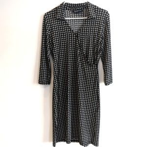 JONES NEWYORK SIGNATURE faux wrap dress XS
